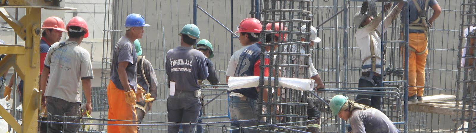 Builders in Peru